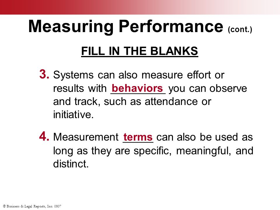 Measuring Performance (cont.)