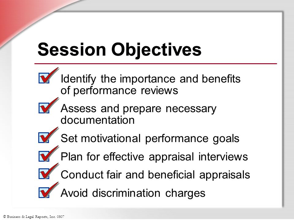 Session Objectives Session Objectives