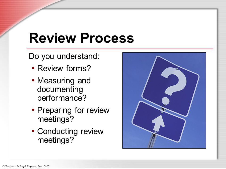 Review Process Do you understand: Review forms