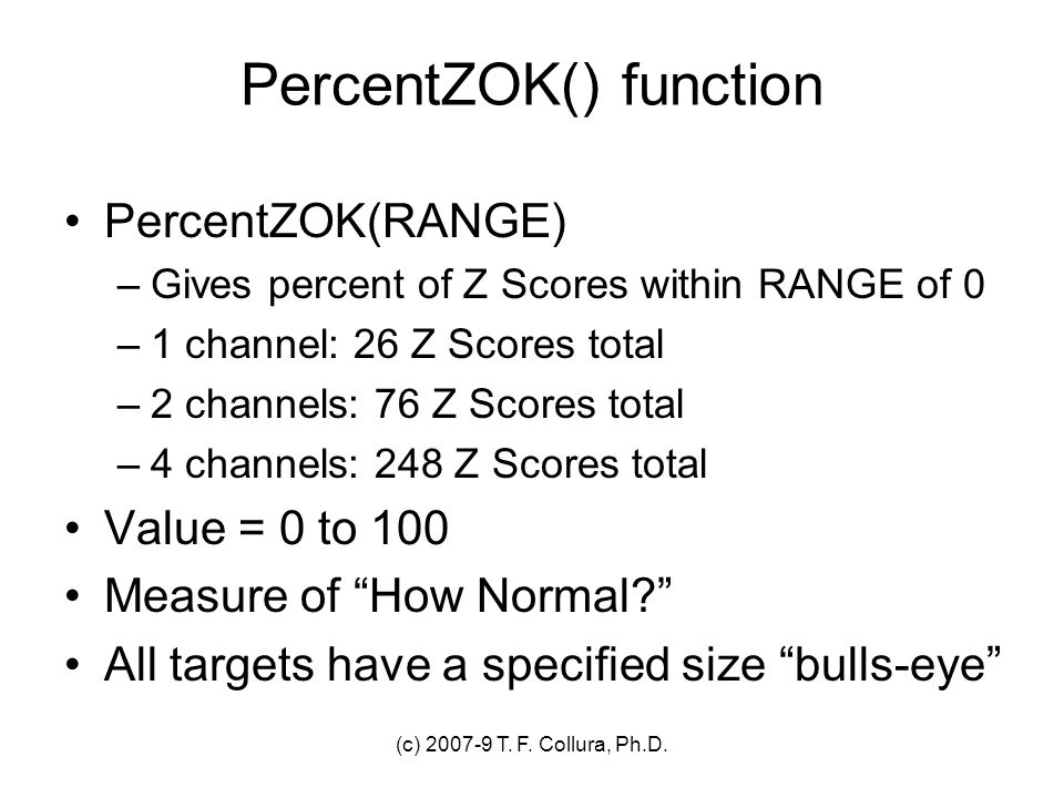 PercentZOK() function
