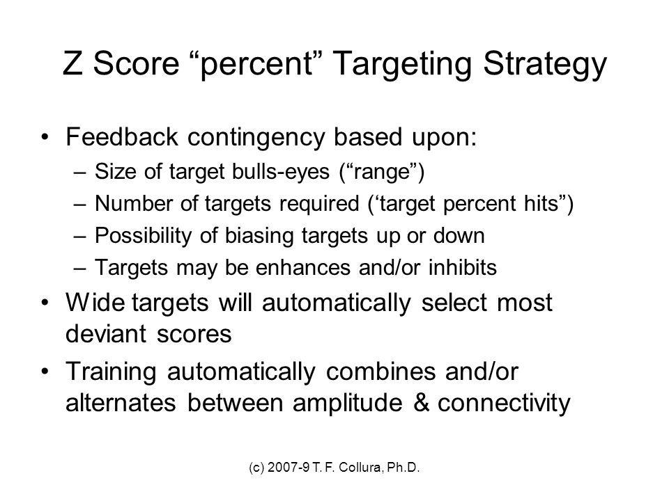 Z Score percent Targeting Strategy