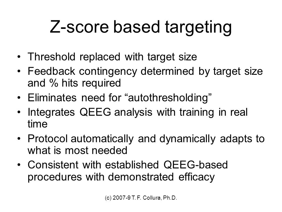 Z-score based targeting