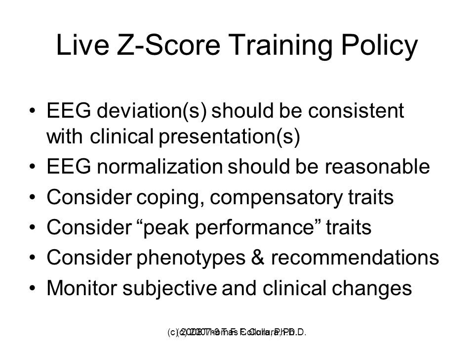 Live Z-Score Training Policy
