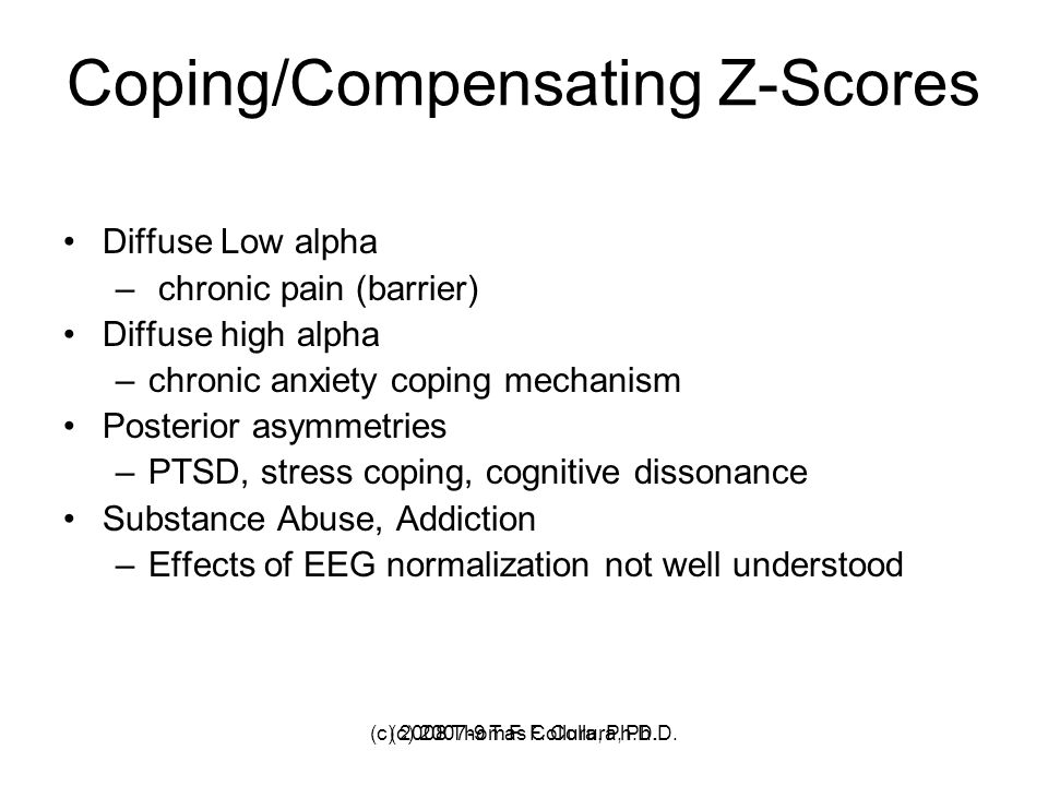 Coping/Compensating Z-Scores