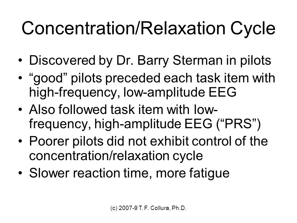 Concentration/Relaxation Cycle
