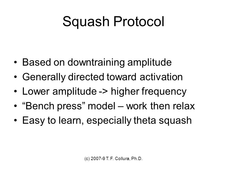 Squash Protocol Based on downtraining amplitude