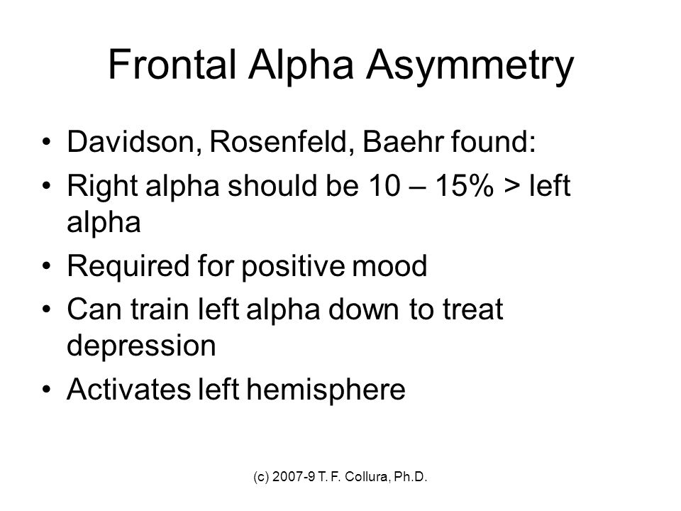 Frontal Alpha Asymmetry