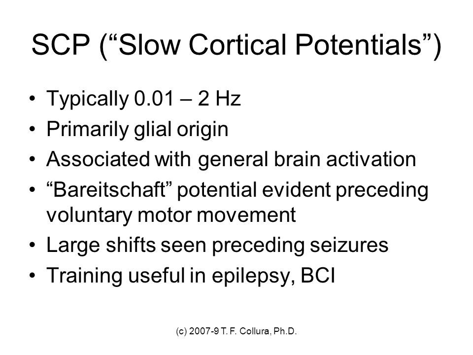 SCP ( Slow Cortical Potentials )