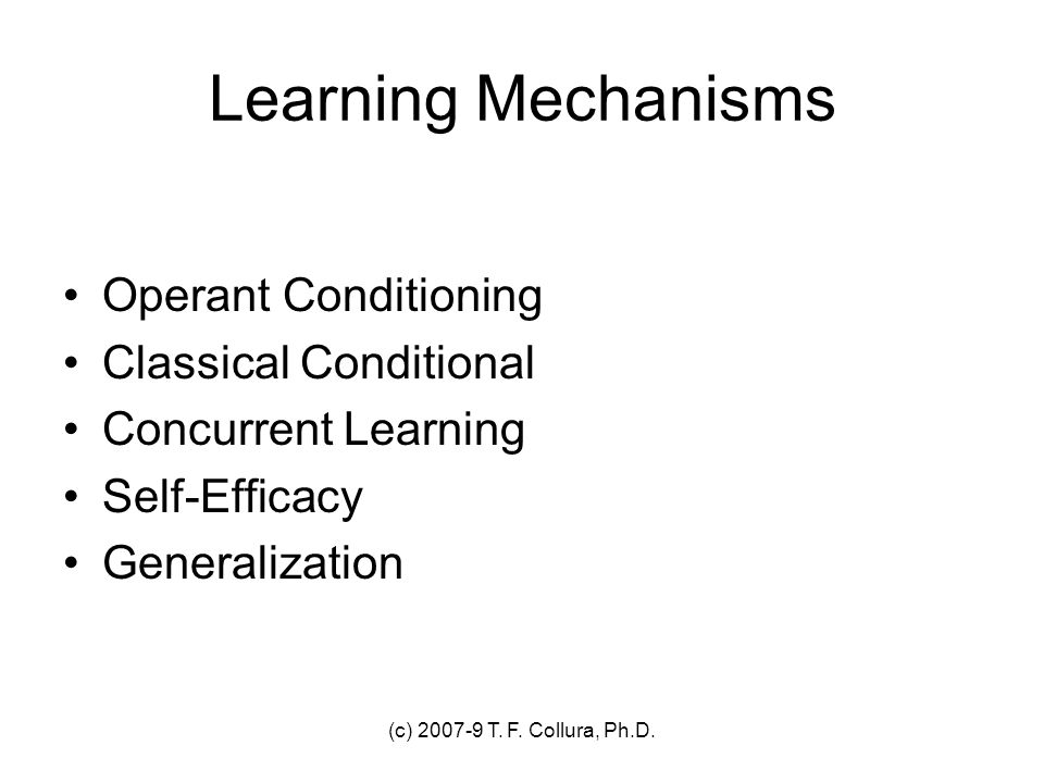 Learning Mechanisms Operant Conditioning Classical Conditional