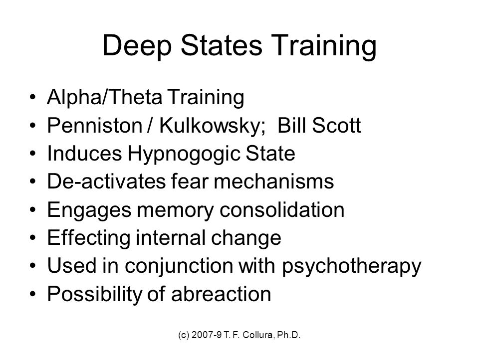 Deep States Training Alpha/Theta Training