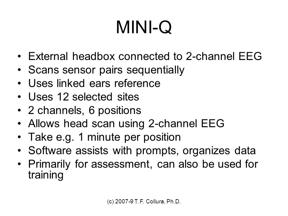 MINI-Q External headbox connected to 2-channel EEG