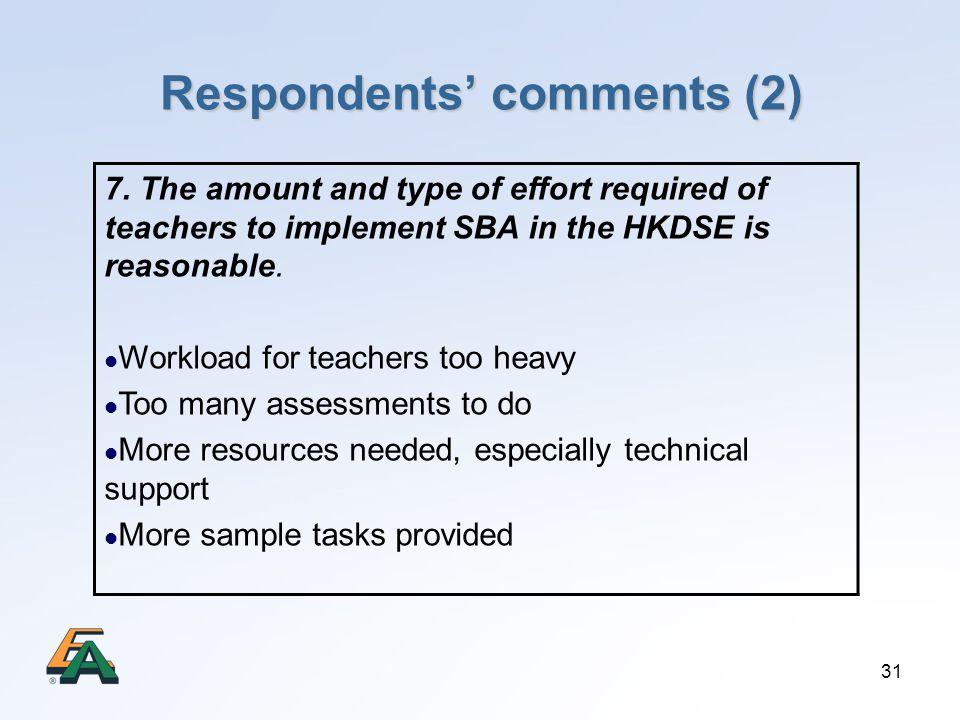 Respondents' comments (2)