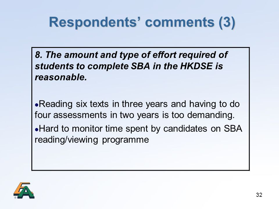 Respondents' comments (3)