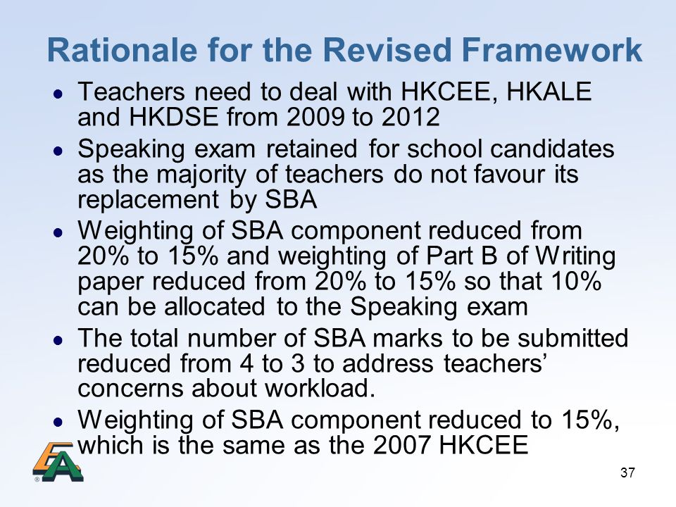 Rationale for the Revised Framework