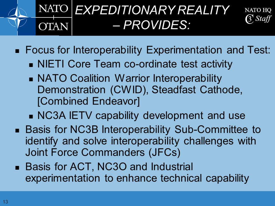 EXPEDITIONARY REALITY – PROVIDES: