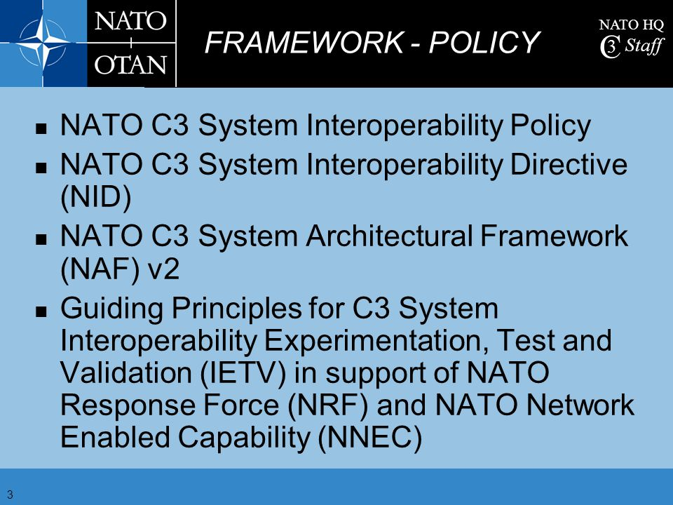 NATO C3 System Interoperability Policy