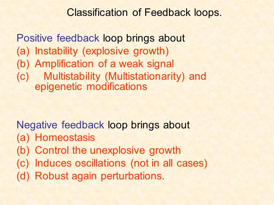 Classification of Feedback loops.
