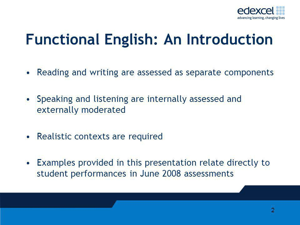 Functional English: An Introduction