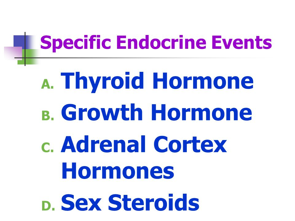 Specific Endocrine Events