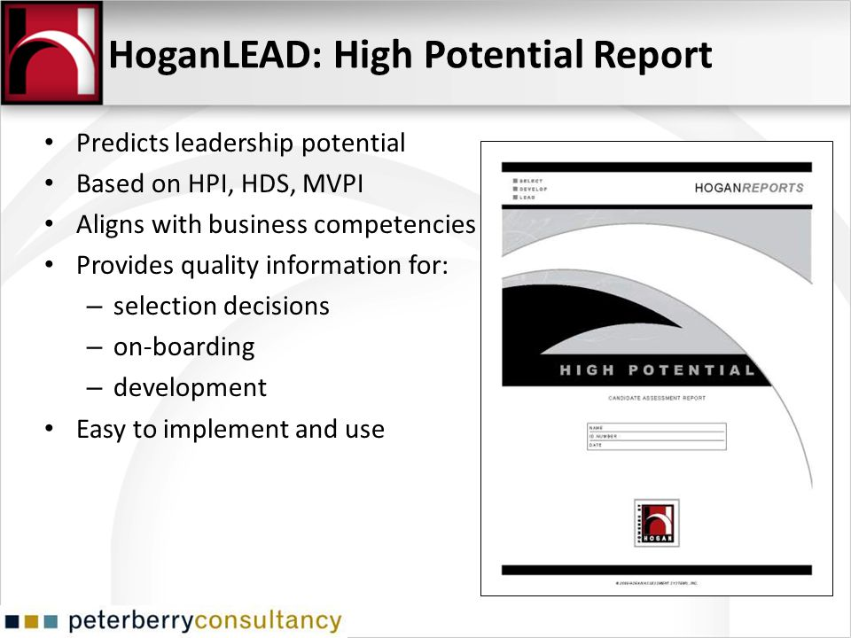 HoganLEAD: High Potential Report