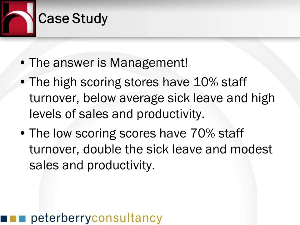 Case Study The answer is Management!