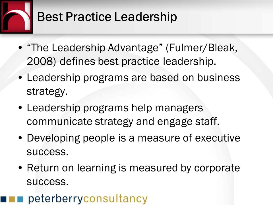 Best Practice Leadership