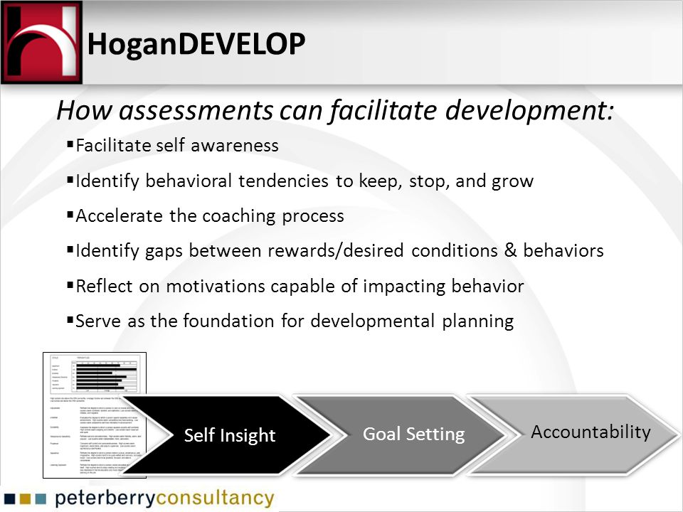 HoganDEVELOP How assessments can facilitate development: