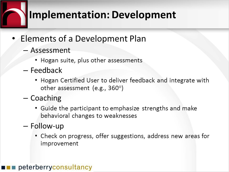 Implementation: Development