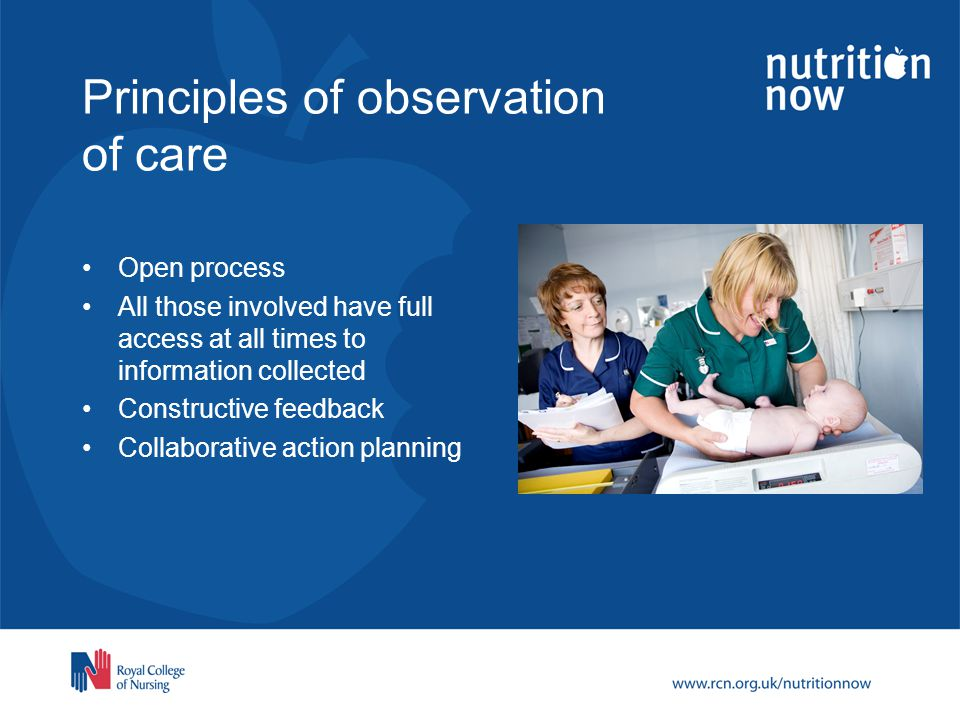 Principles of observation of care
