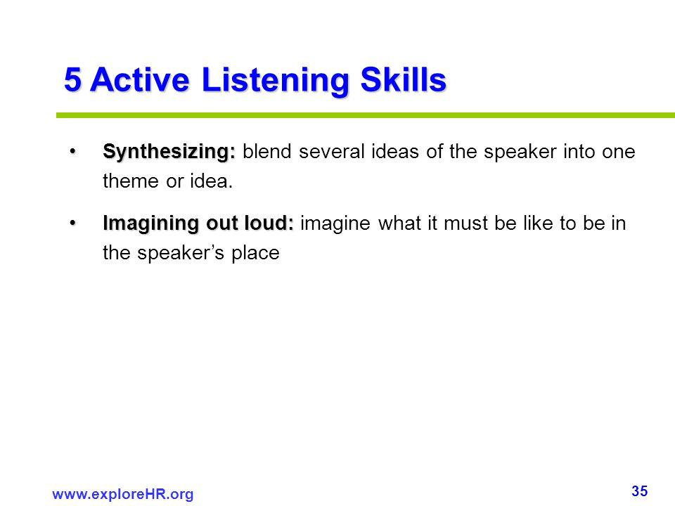 5 Active Listening Skills