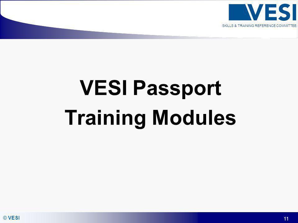 VESI Passport Training Modules