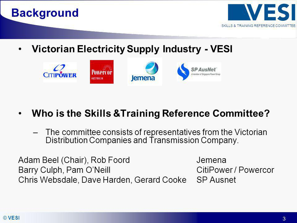 Background Victorian Electricity Supply Industry - VESI