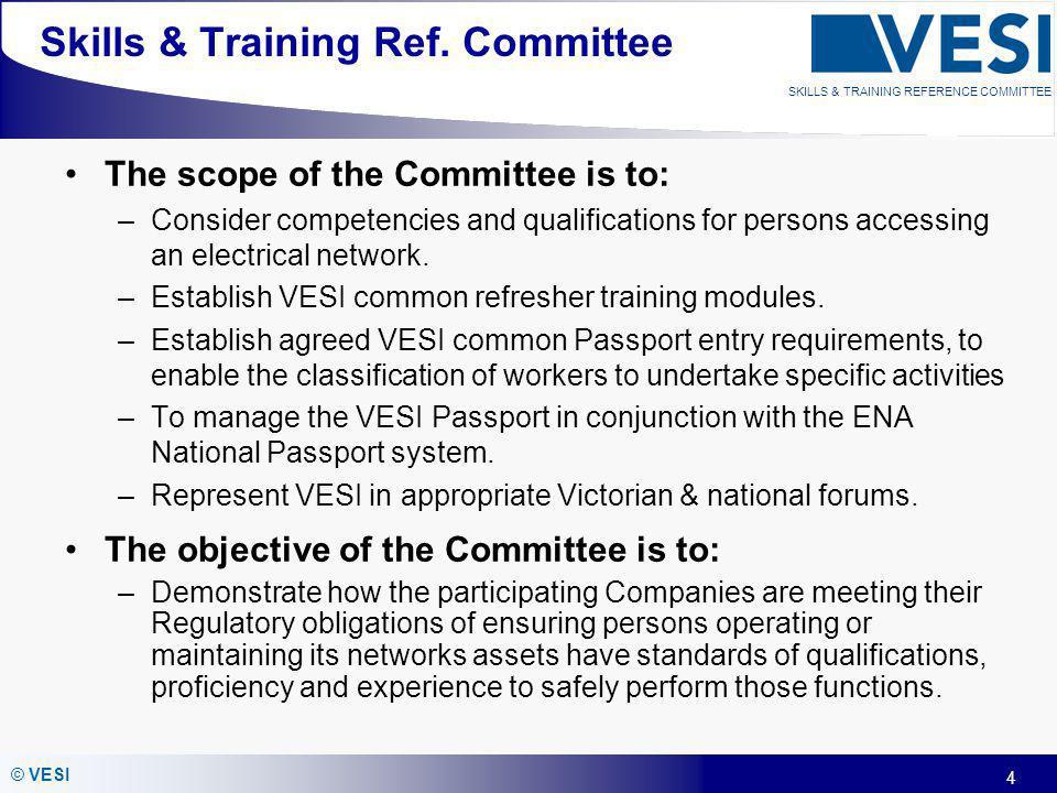 Skills & Training Ref. Committee