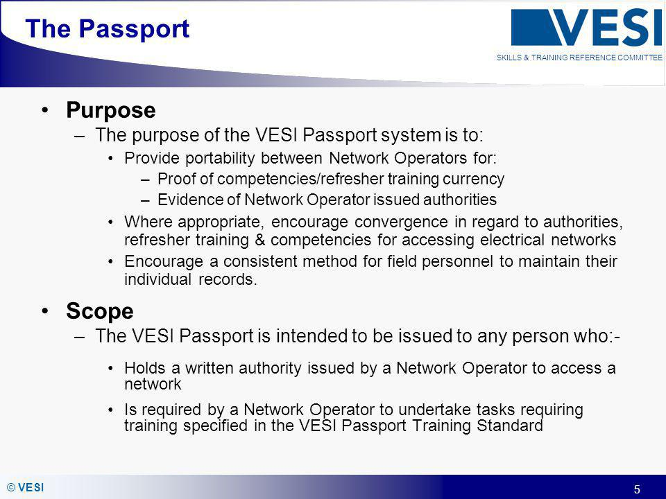 The Passport Purpose Scope
