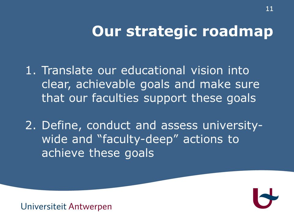 1. Educational vision: goals
