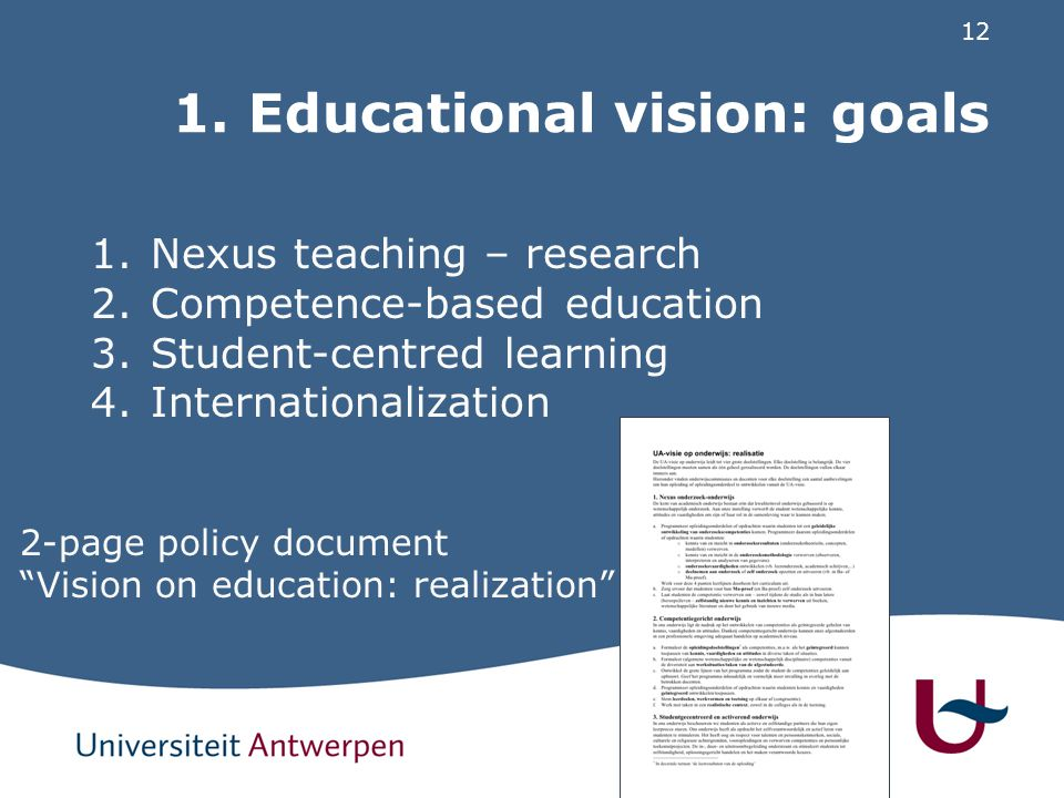 2. Actions: university-wide & faculty-deep