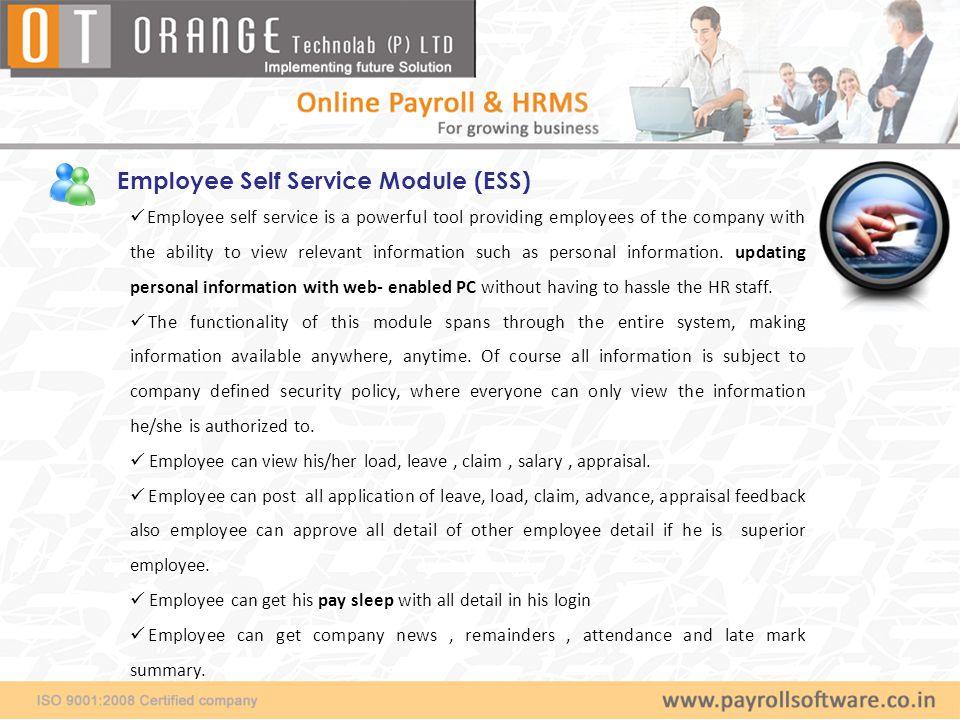 Employee Self Service Module (ESS)
