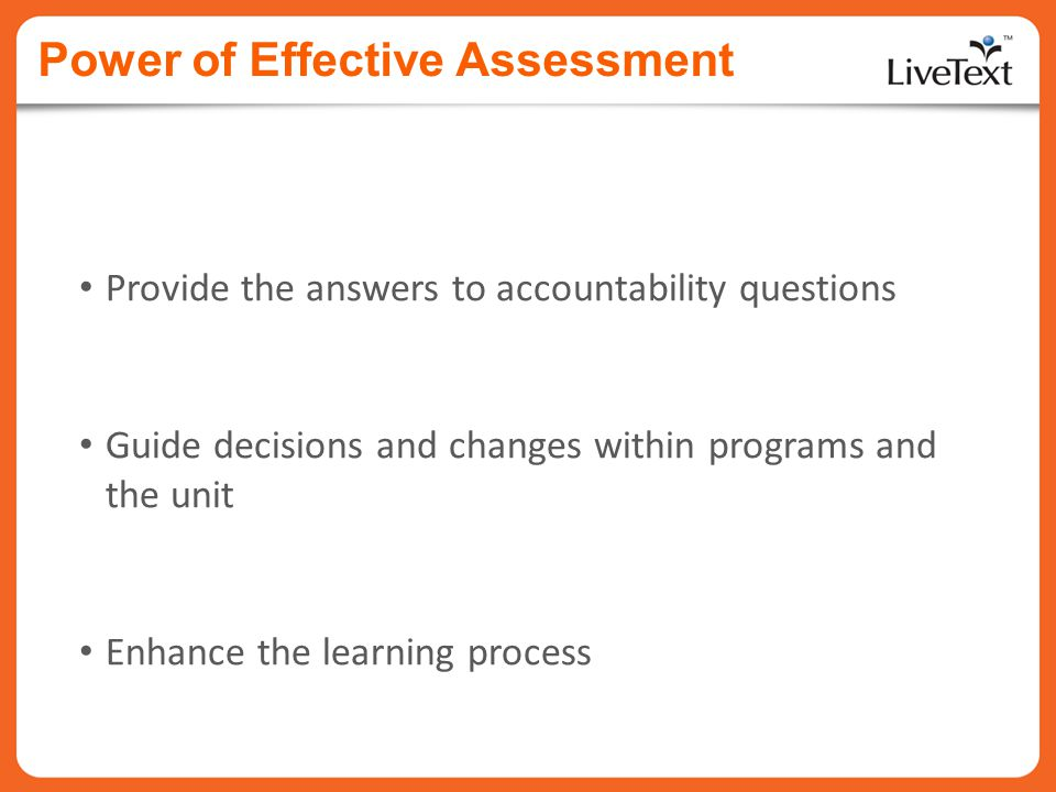 Power of Effective Assessment