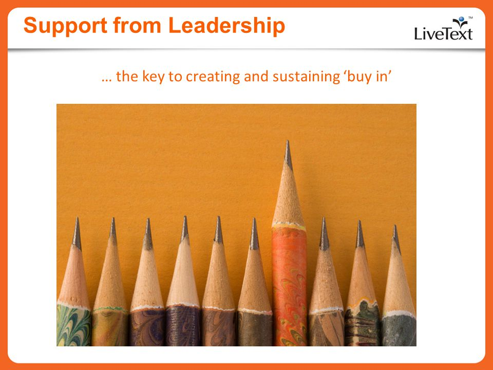 Support from Leadership