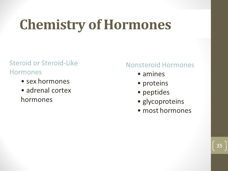 Chemistry of Hormones Steroid or Steroid-Like Hormones