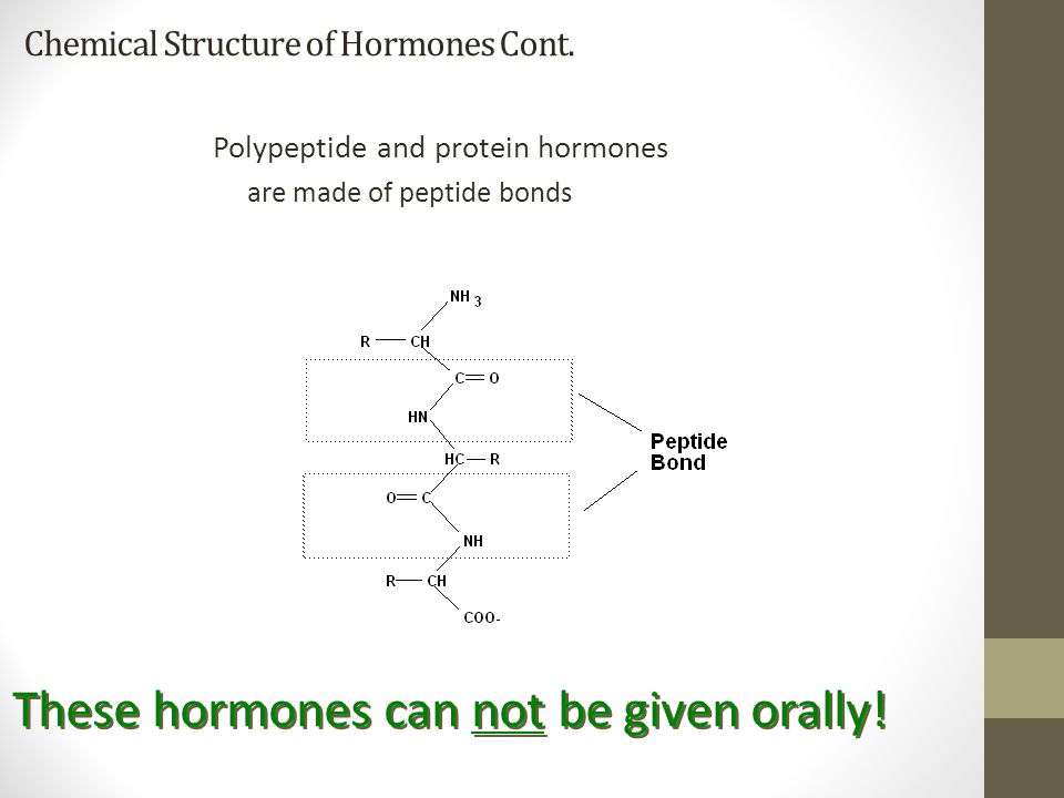 Chemical Structure of Hormones Cont.