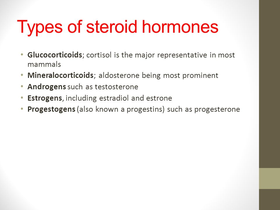 Types of steroid hormones