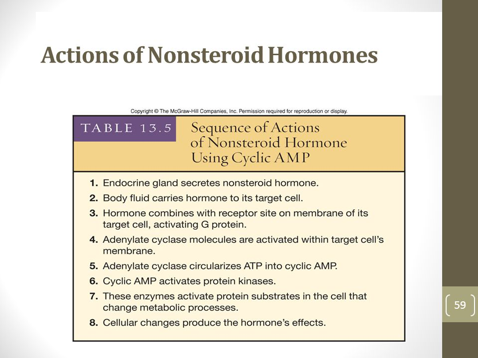 Actions of Nonsteroid Hormones
