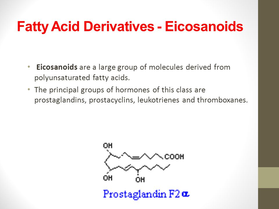 Fatty Acid Derivatives - Eicosanoids