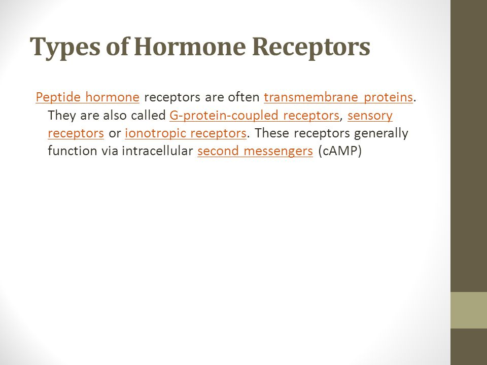 Types of Hormone Receptors
