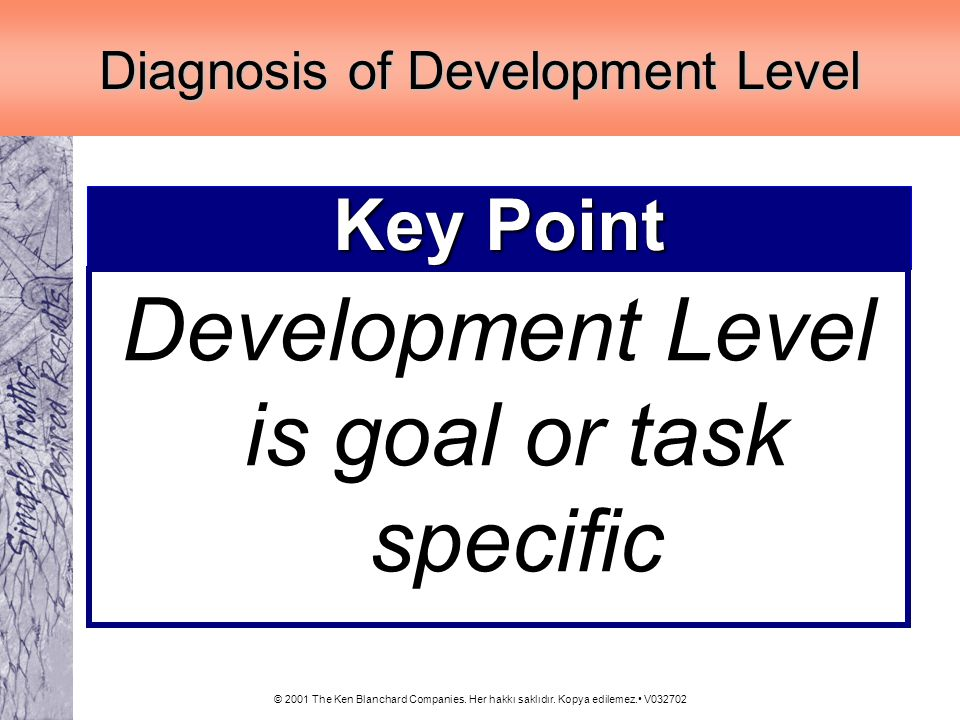 Development Level is goal or task specific
