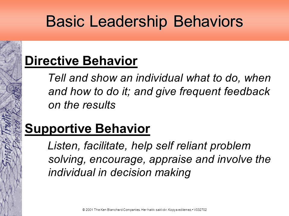 Basic Leadership Behaviors