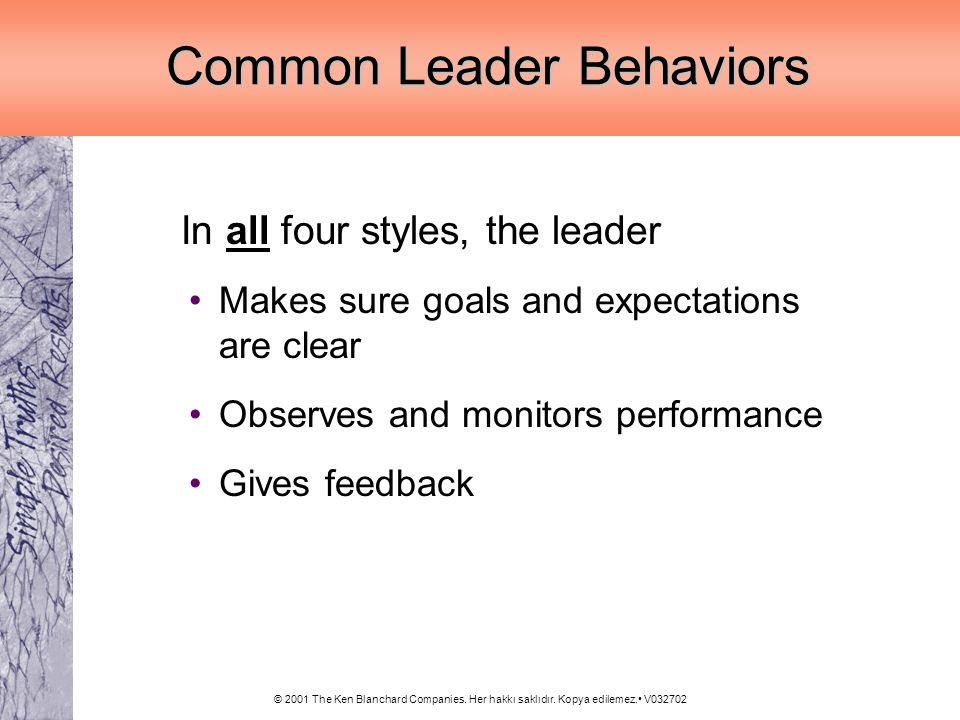 Common Leader Behaviors
