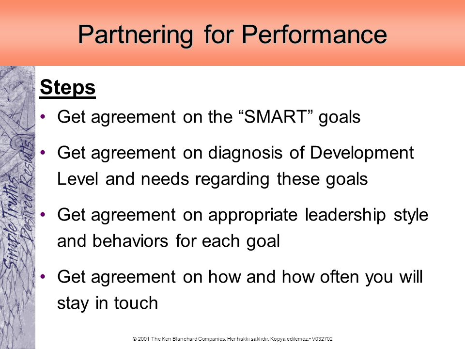 Partnering for Performance