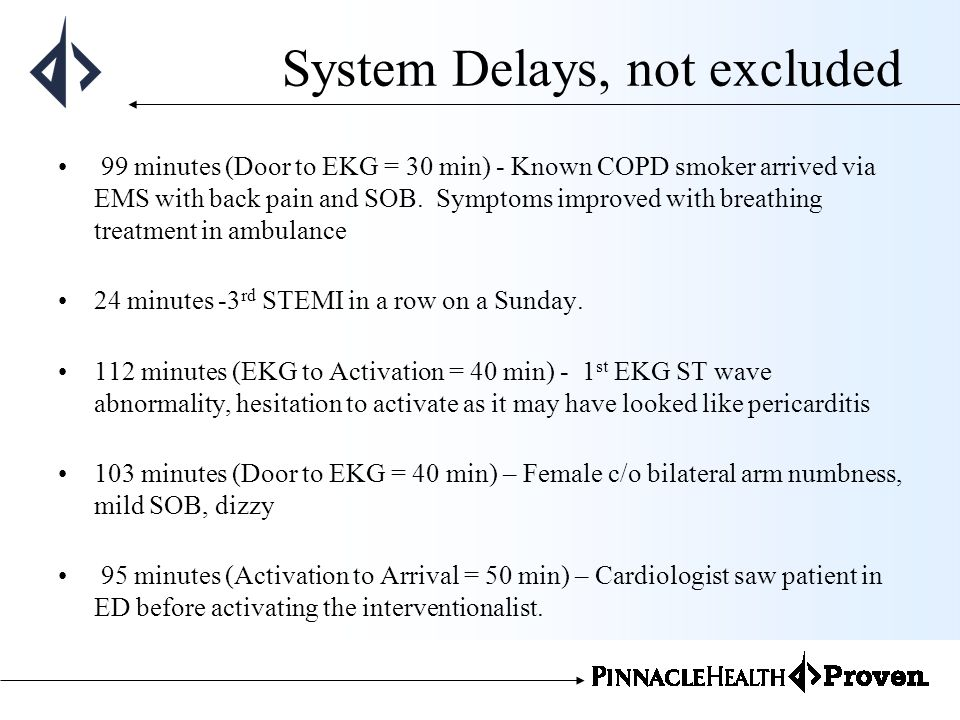 System Delays, not excluded